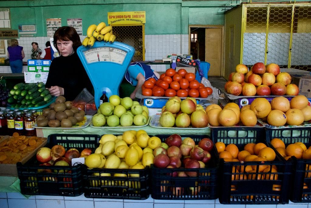 Mercato rionale in Ucraina