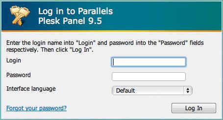 Parallels Plesk Panel Login