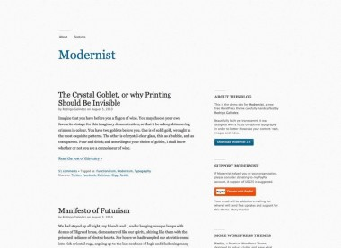 Modernist tema WordPress