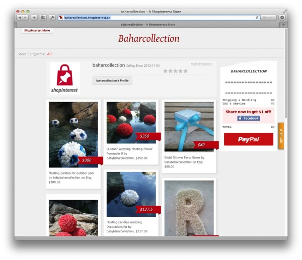 Shopinterest, lo shopping su Pinterest