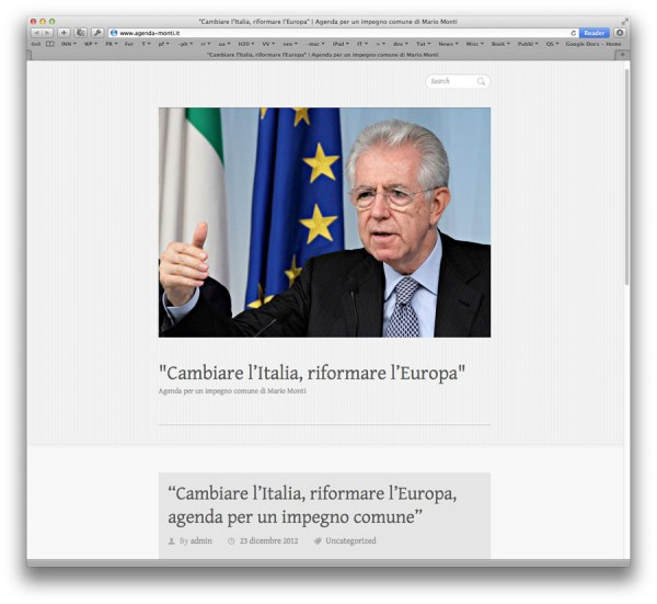 il blog in WordPress di Mario Monti