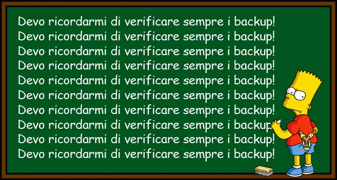 Verificare sempre i backup