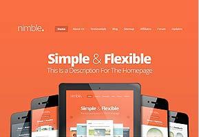 Nimble tema professionale One Page per WordPress