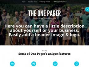 The One Pager tema professionale One Page per WordPress