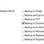 Configurazione BackWPup destinazione backup