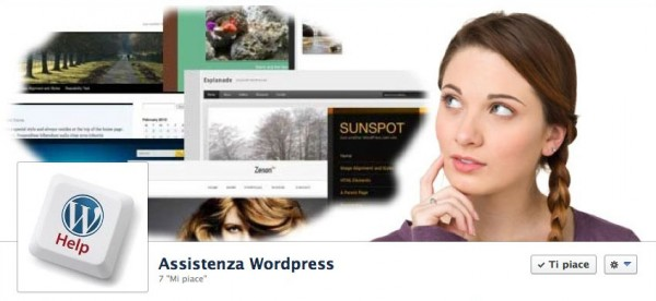 Pagina Facebook Assistenza WordPress