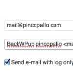 Configurazione BackWPup notifiche errori