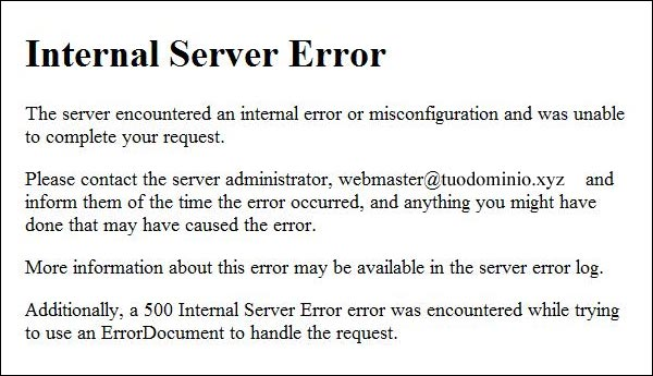 Aruba - Errore 500 Internal Server Error dopo aggiornamento WordPress
