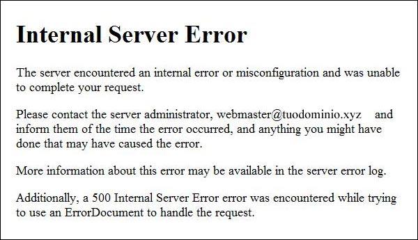 Aruba - Errore 500 dopo aggiornamento WordPress