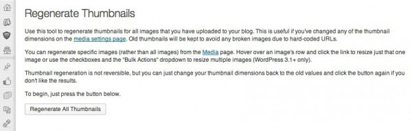 Plugin per ridimensionare Thumbnails WordPress