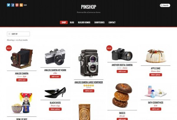 Pinshop tema WordPress WooCommerce