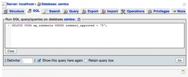 Cancellare i commenti di WordPress con una query SQL