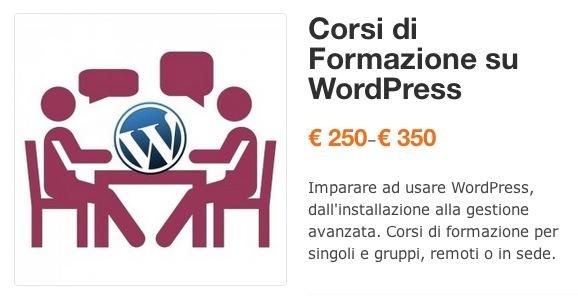 Prezzi prodotti variabili in WordPress 2.1
