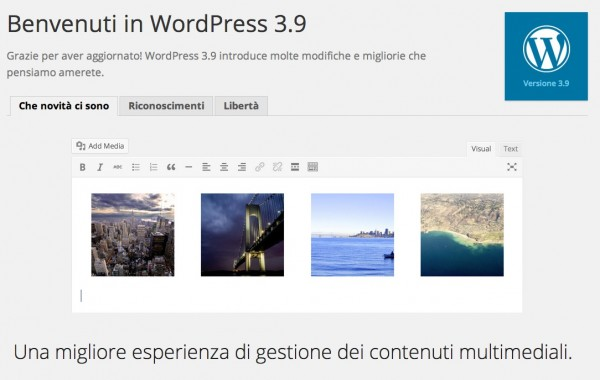 WordPress 3.9 disponibile in italiano
