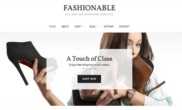 Fashionable tema WooCommerce basato su Canvas