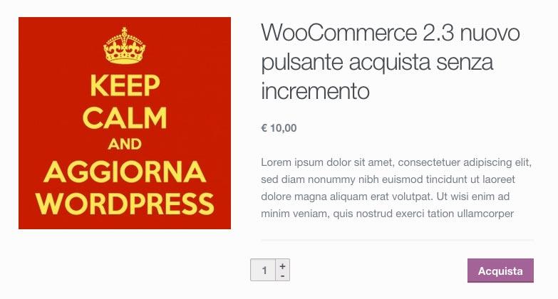 WooCommerce 2.3 pulsanti incremento quantità ripristinati