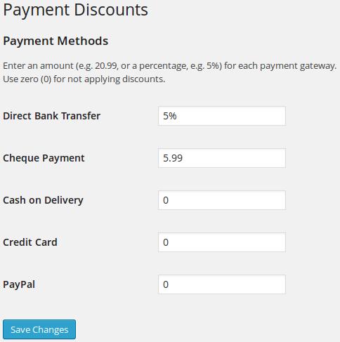 Sconto per scelta pagamento in WooCommerce