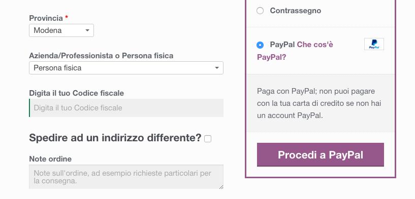 Come modificare il testo Procedi a Paypal nel checkout di WooCommerce