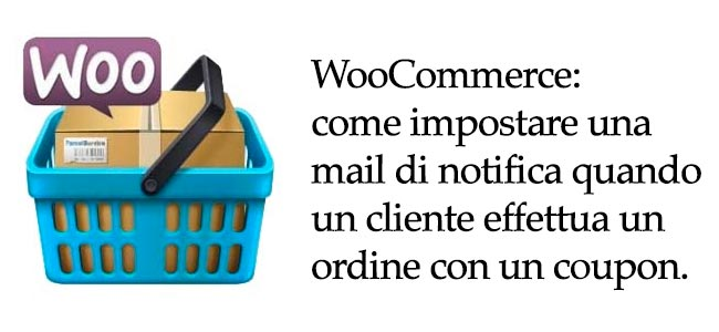 Snippet WooCommerce per notifica ordine con coupon