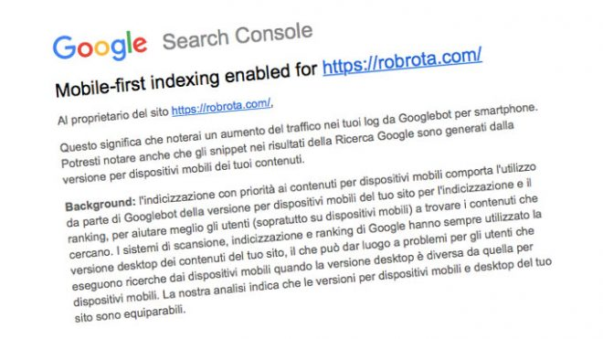 Mobile-First: Google preferisce i siti per mobile.