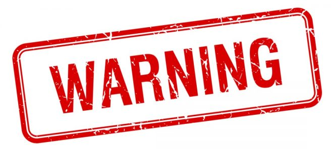 Warning - Avviso pericolo sicurezza WordPress