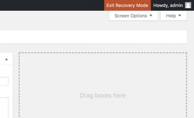 WordPress 5.2 Recovery Mode
