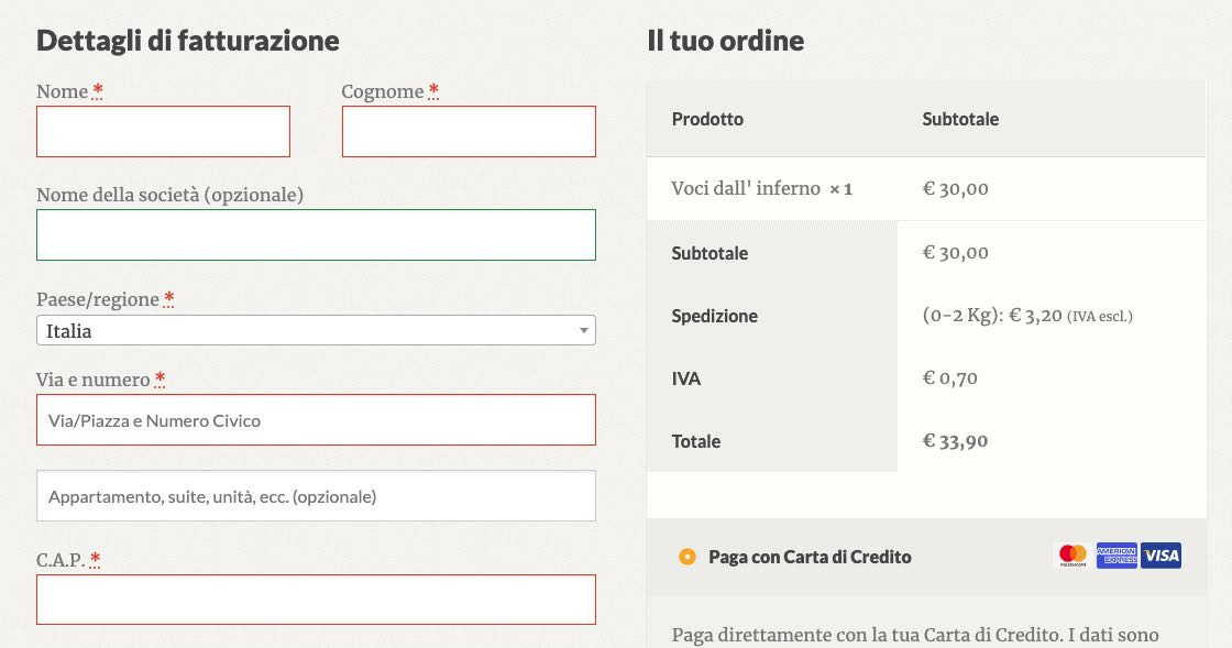 Uno snippet PHP per eliminare i campi checkout di WooCommerce