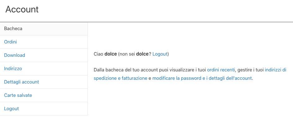 Come personalizzare la pagiona Mio Account di WooCommerce